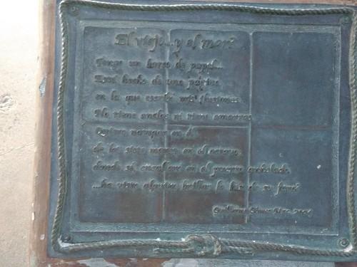 Sculpture inscription at La Paz malecon