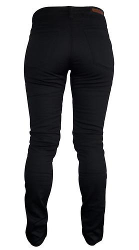 Women's Motorbike Jeans Skinny Black