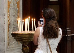 Candles and a Prayer - Trastevere Church - Rome May - 2015