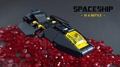 Spaceship in a bottle - spaceship closeup
