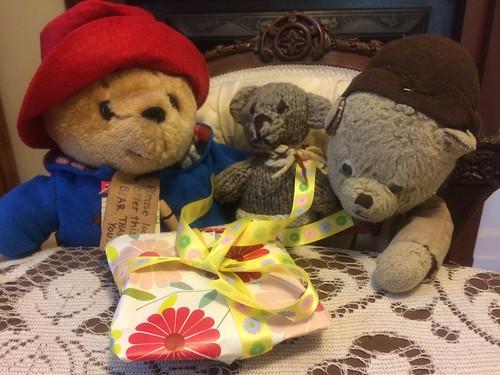 Scout, Paddington, Cousin Paddington and the Birthday Present 2.