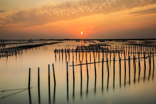 七股潟湖的夕色(Sunset @ Cigu lagoon)。
