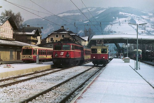 ÖBB 1042 604, 5090 001 and X534.77 at Zell am See