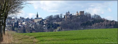 Blick von der Alten Schanze bei Reichenau auf Frauenstein