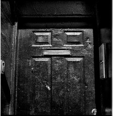 Black door, Milwaukee Avenue, Chicago