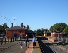 Family Stroll at the Station