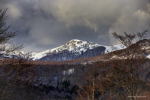 Oblaci sa snijegom nad Snježnikom - s Maloga Platka