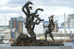 'Hydra and Kali' by Damien Hirst, Greenwich Peninsula