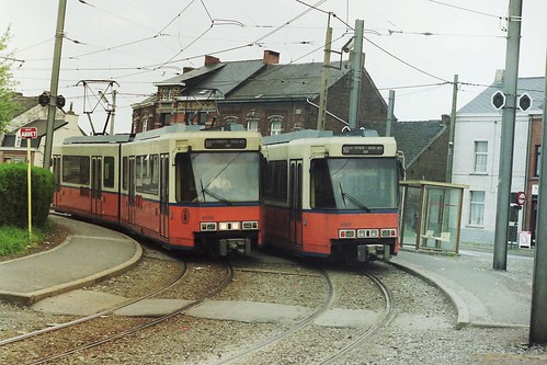 NMVB / TEC 6127 and  6132 at Leval-Trahegnies Béguinage, Binche