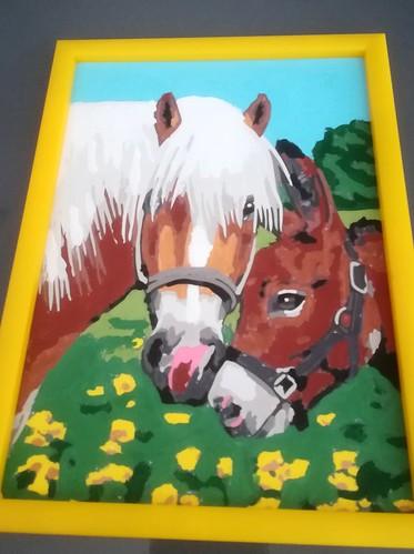 peinture l'amitie animale