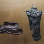 Bronze helmet and miniature cuirass from a statue, Rome - https://www.flickr.com/people/7945858@N08/