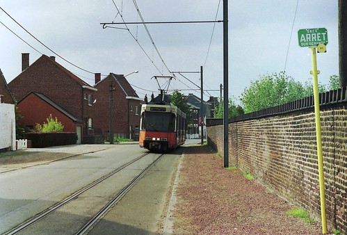 NMVB / TEC 6127 at Cimetière de Binche