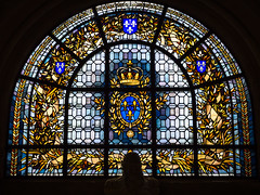 iStained Glass on the Chapel of the Bourbons