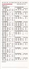 PSA Albuquerque city timetable - May 14, 1986