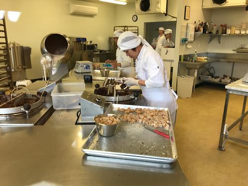 Making chocolate at Makana Confections