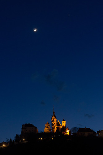 Crescent Moon and Venus over Althofen