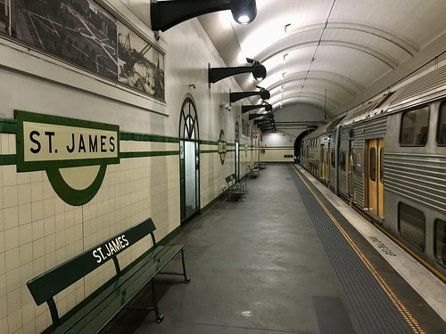 St. James station platform in Sydney