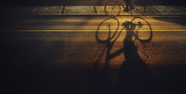 Course avec mon ombre