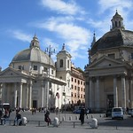 Piazza del Popolo – Due chiese - https://www.flickr.com/people/9851528@N02/