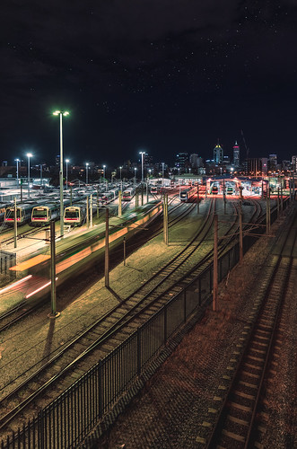 Claisebrook Train Yard - East Perth, Western Australia