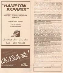 Long Island Airlines system timetable - May 1, 1985