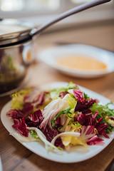Colorful salad closeup.