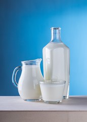Close up of milk against blue background - Credit to https://homegets.com/