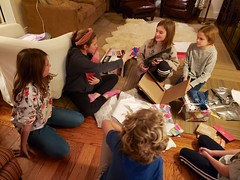 Lily Opening Birthday Presents
