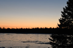 Sunset over Bass Cove -- Drummond Island, Michigan in Winter