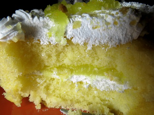 Yellow Cake with Layers of whipped Icing and Lemon Filling
