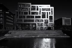Glowing building