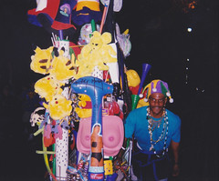 Carnival Novelty Vendor and Cart, Uptown New Orleans 1999