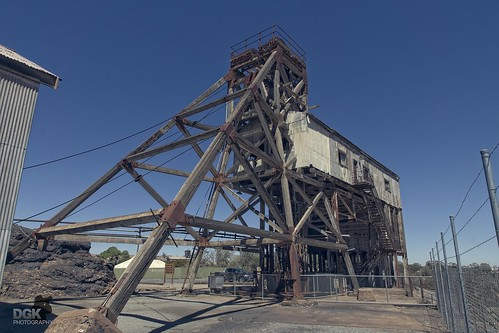 The Junction Mine Poppethead at Broken Hill, NSW
