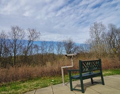 Bench and Scope at Nature Center
