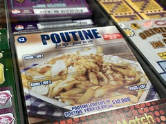 """""""Poutine for Life"""" lotto scratcher"""