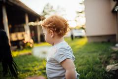 Happy little girl outdoors.