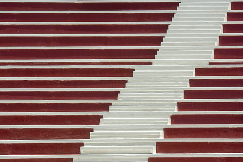 White stairs and red tribune (on Explore)