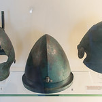 Three Etruscan bronze helmets from the Guglielmi collection, Vulci - https://www.flickr.com/people/7945858@N08/