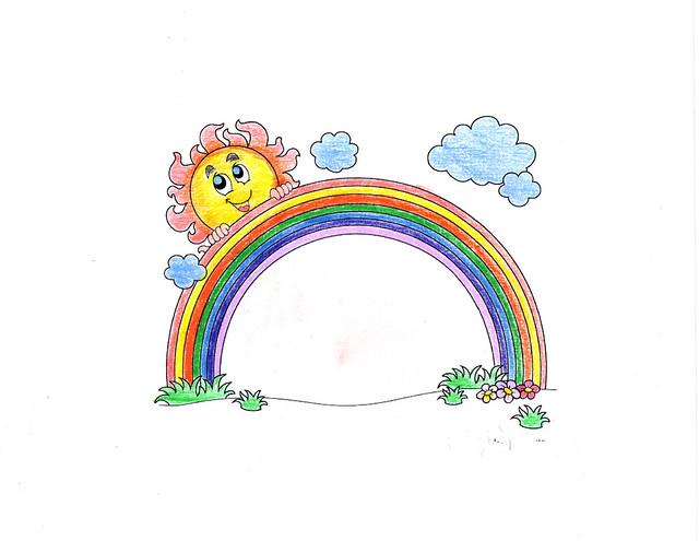 coloriage-arc-en-ciel