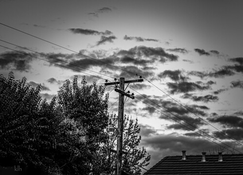 Early Morning Sky on Monochrome Monday