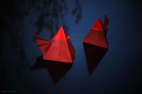 Origami Geometric Hens (Román Diáz)