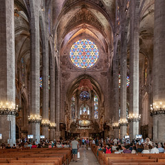 Basilica Cathedral Palma Mallorca inside chapel - Spain
