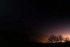 Sirius over sunset