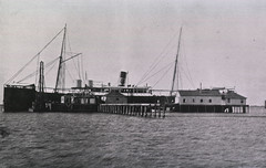 North end of the disinfecting wharves at the quarantine station on Blackbeard Island, Georgia
