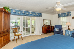 Another view of Master Bedroom and view to porch and lake