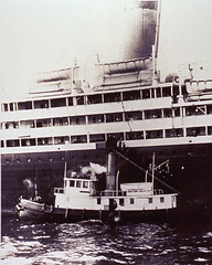PHS quarantine boat at one of the ports of entry, early 20th century