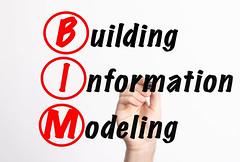BIM - Building Information Modeling acronym with marker, concept background