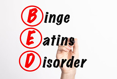 BED - Binge Eating Disorder acronym with marker, concept background
