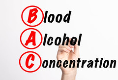 BAC - Blood Alcohol Concentration acronym with marker, concept background