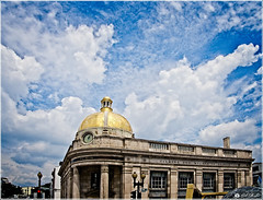 Dramatic Sky Over Historic Building